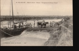 CPA036.....ILE DE RE ...MARAIS SALANTS ...BATEAU - Ile De Ré