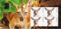 Australia 2019 Singapore Show Red Kangaroo Gold Foil Minisheet MNH - Day 4 - Ungebraucht