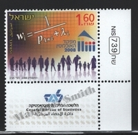 Israel 2008  Yv. 1939, Central Bureau Of Statistics – Tab - MNH - Israel