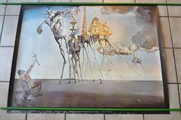 VIEILLE AFFICHE SALVADOR DALI - TENTATION DE ST ANTOINE - POSTER - Plakate