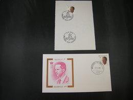 """BELG.1990 2382 FDC (Brus/Brux) + Feuillet/velletje : """" Koning Boudewijn / Roi Baudouin """" - 1981-90"""