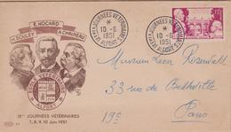 ENVELOPPE TIMBRE 1951 JOURNEES VETERINAIRES (ALFORT) COTE 60 - FDC