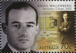 Australie Australia 4209 Raoul Wallenberg , Juif , Shoah , Dipplomate Suède - Celebrità