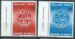Maroc - Yvert N° 1019  /   1020  **    ( 2 Timbres )   -    Aab 23706 - Marruecos (1956-...)