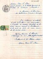 Candidature à L'emploi De Receveur Buraliste De 2 Eme Classe, 1927, Timbre Fiscal 1.20 Franc, Tampon Rectangulaire - Documentos Antiguos