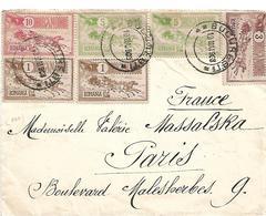 RUM113 / RUMÁNIEN - Thema: Postbeförderung 1903, Frankaturgerecht Auf Brief Nach Paris - 1881-1918: Charles I