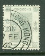 Hong Kong: 1954/62   QE II     SG183      30c   Grey    Used - Hong Kong (...-1997)