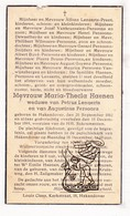 DP Maria Thecla Haenen ° Hakendover Tienen 1862 † 1944 X Lenaerts Xx Persoons / Buvé Praet VanBrusselen Snijders Brues - Imágenes Religiosas