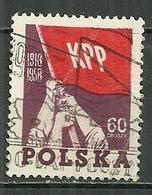 POLAND Oblitéré 951 Anniversaire Du Parti Communiste Polonais KPP - 1944-.... République