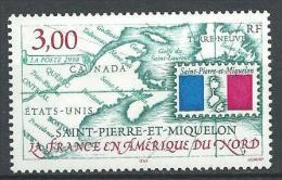 """SPM YT 680 """" Carte De L'archipel """" 1998 Neuf** - St.Pierre Et Miquelon"""