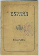 Passeport Espagnol Valable Pour La France. España. Pasaporte. Délivré à Palma De Mallorca En 1927. Cachets. Dependiente - Documents Historiques