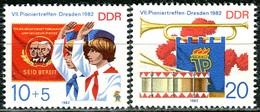 DDR - Mi 2724 / 2725 - ** Postfrisch (E) - 10+5-20Pf        Pioniertreffen Dresden - Ongebruikt