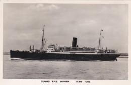 CUNARD R.M.S. SAMARIA - Steamers