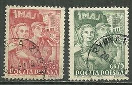 POLAND Oblitéré 638-639 Commémoration Du 1 Er Mai - 1944-.... Republik