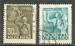 POLAND Oblitéré 606-607 Journée Internationale De L'enfance Enfant Enfants Child Children - 1944-.... République