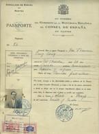 Certificat De Nationalité. 1934. Consulat D'Espagne à Nantes. Pasaporte. Passeport. Timbres Fiscaux. Comerciante. - Documents Historiques