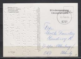 """Österreich L2 """" Blindensendung/Cecogrammes"""" Auf Karte Von Burgau 10.7.86 Mit Blindenschrift Nach Deutschland - 1945-.... 2nd Republic"""