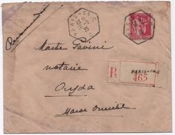 PAIX Lettre Recommandée > Maroc Cachet Recette Auxiliaire Urbaine PARIS 64 C Rue Emile Zola Ouverte De 1931 à 1939 - Storia Postale