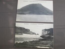 Guadeloupe  2 Cartes . Anse Bertrand . La Porte De L Enfer .et Saintes Terre De Haut . Le Chameau Et Sa Tour - Guadeloupe