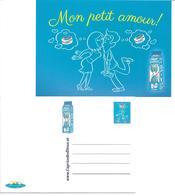 """1672b: Österreichische AK Werbekarte Milchprodukte """"mon Petit Amour"""" - Viehzucht"""