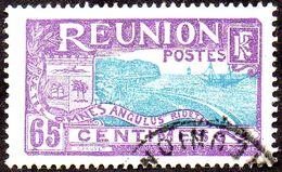 Réunion Obl. N° 112 - Vue -> Rade De Saint Denis - 65c Violet Et Bleu-vert - Oblitérés