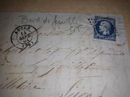 Lot De 12 Timbres Numéro  14 - 1862 Napoléon III.