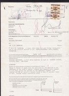 Bophuthatswana: Legal Document, 1990, 2 Revenue Stamps, Court Case On Debt, Plaintiff Attorney, Rare! (minor Damage) - Bophuthatswana