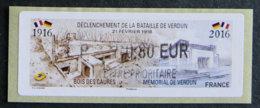 FRANCE - VIGNETTES ILLUSTREES - VIG 204 - 2016 - DECLENCHEMENT DE LA BATAILLE DE VERDUN - 2010-... Illustrated Franking Labels