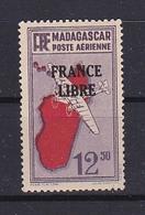 Timbre MADAGASCAR P.A. N° 48**  FRANCE LIBRE - Madagascar (1889-1960)