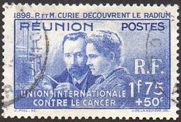 Réunion Obl. N° 155 - Pierre Et Marie Curie - Découverte Du Radium - Oblitérés