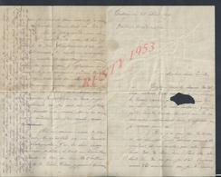 ITALIE LETTRE ECRITE DE TARTANE MARTINIQUE 1893 : - Manuscrits