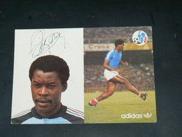 SPORT FOOTBALL / EQUIPE DE FRANCE 1978  / JOUEUR +DEDICACE IMPRIME  / CIRC /  EDITION ADIDAS - Fussball