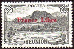 Réunion Obl. N° 201 Vue -> Salazie, Mare Aux Poules D'eau Et Piton D'Auchain Le 80c  Noir - Réunion (1852-1975)