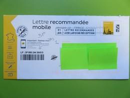 PAP - Lettre Recommandée Mobile - Monuments - Tour Eiffel - 20 G - 11.07.19 - Courrier Suivi - Prêts-à-poster:  Autres (1995-...)