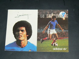 SPORT FOOTBALL / EQUIPE DE FRANCE 1978 / JOUEUR +DEDICACE IMPRIME / SAINT ETIENNE / EDITION ADIDAS - Fussball