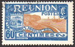 Réunion Obl. N°  95 - Vue -> Sainte Rose Et Le Volcan 60c Bleu Et Brun-jaune - Oblitérés