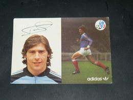 SPORT FOOTBALL / EQUIPE DE FRANCE 1978 / JOUEUR +DEDICACE IMPRIME / SAINT ETIENNE / EDITION ADIDAS - Voetbal