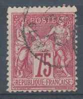 [101082]TB//O/Used-c:10e-N° 71, 75c Carmin, Sage Type I, Jolie Nuance Foncée - 1876-1878 Sage (Type I)