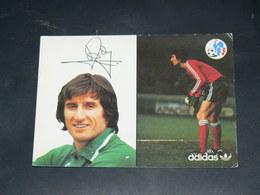SPORT FOOTBALL / EQUIPE DE FRANCE 1978 / JOUEUR GARDIEN+DEDICACE IMPRIME / SAINT ETIENNE / EDITION ADIDAS - Football