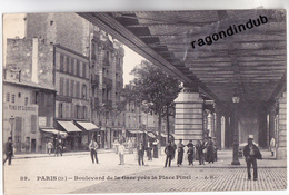 CPA - 75 - PARIS (13 ème) - METRO AERIEN Boulevard De La Gare Près La Place Pinel - Très Bel état édit J.H. N° 89 - Metro