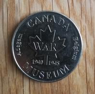 3267 Vz Canada War Museum 1940-1945 Adegem Belgium - Kz Belgian Heritage Collectors Coin - België