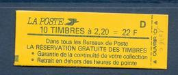 Carnet LIBERTE N° 2376-C10 ** RESERVATION...- D - CONF 8 - COTE 42 € - Carnets