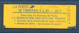 Carnet LIBERTE N° 2376-C11a ** RESERVATION...- Sans S - CONF 9 - COTE 35 € - Carnets