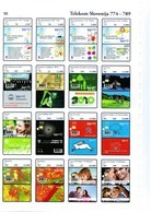 Slovenia Phonecards Catalogue 2014 On CD,798 Chip Cards Format PDF + Also JPG Format, Last+latest Color Catalog 94,7 MB - Télécartes