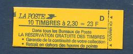 Carnet LIBERTE N° 2614-C2 **RESERVATION...- D - CONF 8 - COTE 40 € - Carnets