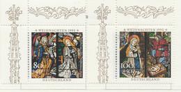 PIA  -  ALLEMAGNE -  1995  : Natale - Vetrate Della Cattedrale Di Augusta -  (Yv   1663-64) - Vetri & Vetrate