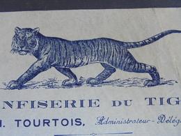 LE TIGRE - PARIS 13 ème - CONFISERIE DU TIGRE - H. COURTOIS 27 RUE WURTZ - ILLUSTREE - Non Classificati