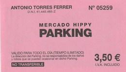 Ticket - PARKING - MERCADO HIPPY - IBIZA - Tickets - Entradas