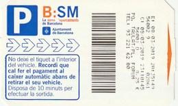 Ticket - PARKING - B:SM - AJUNTAMENT DE BARCELONA - Tickets - Entradas