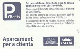 Ticket - PARKING - APARCAMENT PER A CLIENTS - BONPREU ESCLAT - Tickets - Entradas